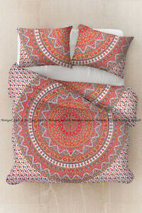 Indian Mandala Duvet Cover Hippie Bohemian Cotton Bedding Quilt Cover Full Size