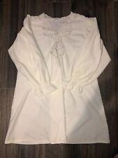 Vintage Vanity Fair Short Nightgown Flannel Nylon Lace Trim Pink Rosebuds