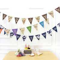 World Travel Map Banner Garland Party Hanging Bunting Flags Banner Home Decor