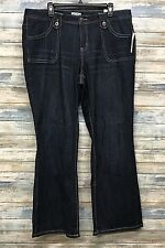 Women's Plus Jeans 26W x 32 Dark Denim Stretch FASHION BUG NEW
