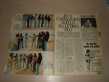 CAMALEONTI J.E.T. GRUPPO MUSICALE BAND   clipping articolo foto photo 1973