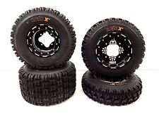 DWT G3 Beadlock Rims Maxxis Razr XM MX Tires Front Rear YFZ450 Raptor Banshee