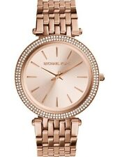 New Michael Kors Ladies Watch Darci Rose Gold Steel Crystal Glitz Bezel MK3192