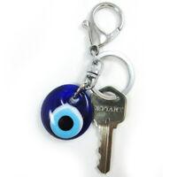 Classic Evil Eye Keychain Blue Glass Hamsa Good Luck Lucky Charm Protection Gift