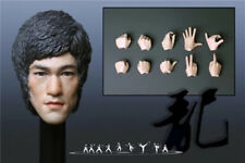 Custom1/6 Bruce Lee 5.0 Head Sculpt with 10 hands for Hot Toys Phicen M32