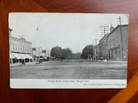 Otsego, Michigan Postcard Allegan Street Looking East MI c1910 Opera House Pharm
