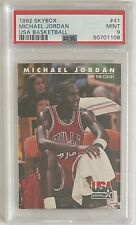 1992 Skybox #41 Michael Jordan USA Basketball. PSA Graded Mint 9 - Off The Court