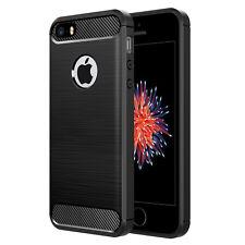 for iPhone 5 5s SE Simpeak Premium Rugged Protective Back Cover Case Black