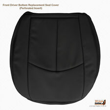 2007 Mercedes Benz E550 Driver Side Bottom Perforated Leather Seat Cover Black