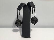 New - Pendientes EarRings - Black Silver with Black Zircons - Plata y Circonitas