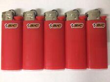 5 Original mini bic lighter Red color - new