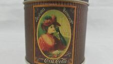 Vintage Coca Cola Tin Metal Round Can Container