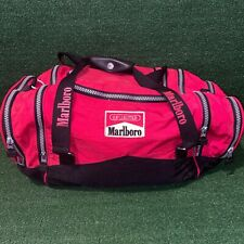 Vintage 90's Marlboro Unlimited Red Gym Sports Duffel Bag Overnight Weekender