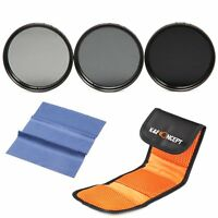 37mm ND2 ND4 ND8 Neutral Density ND Lens Filter Kit For Canon Sony Olympus DSLR