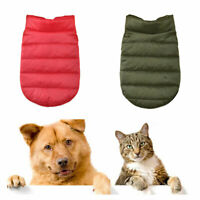 Pet Clothes Winter Soft Padded Warm Coat Puppy Small Dog Cat Chihuahua Jacket