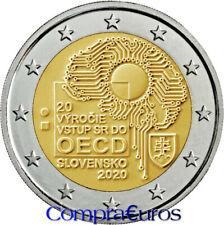 2 Euros Conmemorativos Eslovaquia 2020 *Adhesión OCDE / ODCE* Sin Circular