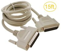 15ft. DB25 Male to Male 25-Conductor Serial/Parallel/SCSI Straight-Thru Cable