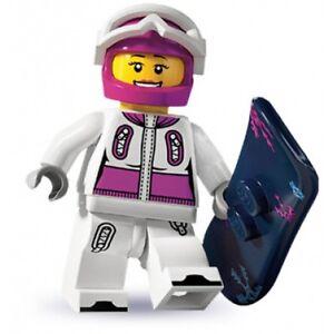 #5 LEGO Minifig series 3 8803 Snowboarder goggles board