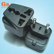 New Universal UK/US/EU/AU to Brazil and EU EUROPE Travel Power Adapter Plug