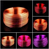Wholesale 1mm 1.5mm 2mm Aluminum Wire DIY Jewelery Making Wrap 1Roll Multi Color