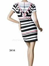 NWT Ever Pretty Super Cute Striped Casual Hooded Mini Dress Size 14