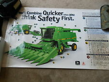 "Vintage 1997 John Deere 9500 Combine ""Safety Live With It"" Poster NEW 30"" x 48"""