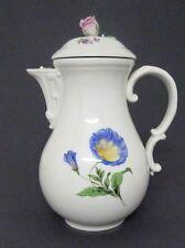 (MK114) Große Meissen Kaffeekanne, Blumendekor, H=26,5 cm