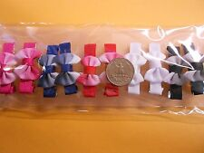small girl hair clip pin bow short Barrettes Brown Blue dog