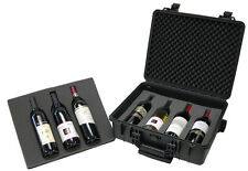 7-Bottle Wine Carrier | Poly-Molded Rolling Case | Insulated Locks | WCB 018T