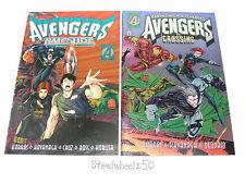 Avengers Timeslide Crossing 2 Comic Lot Marvel Chromium Harras Kavanagh Deodato