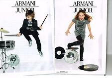 PUBLICITE ADVERTISING 014   2011   ARMANI  mode enfants JUNIOR  ( 2 pages)