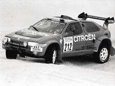 Auriol. Citroen ZX. Paris-Dakar Rally, 1993. Vintage press photo. L433 i17