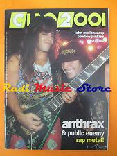 rivista CIAO 2001 8/1992 Anthrax John Mellencamp Cowboy Junkies Nitzer Ebb No*cd