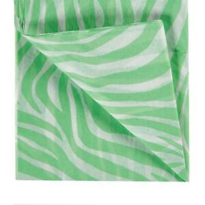 Printed Green Zebra Tissue Paper - Acid Free Coloured Gift Wrapping Pattern