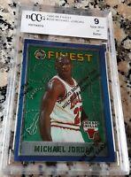 MICHAEL JORDAN 1995 Topps Finest BGS BCCG 9 Chicago Bulls HOF 6x Champion MVP $$