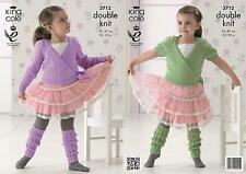 King Cole 3712 Knitting Pattern Ballet Cardigan and Leg Warmers in Comfort DK