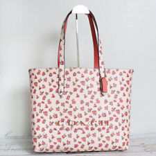 Coach 55181 Highline Tote With Floral Print in Chalk Multi