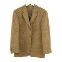 Harris Tweed 100% Laine Marron Veste Blazer Taille US/UK 42 Eur