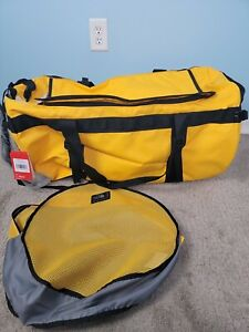 The North Face Base Camp Duffel Bag XL Yellow Black Summit Gold 132L $169 New