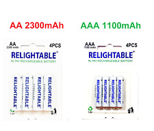 RELIGHTABLE Lot of AA AAA NI-MH 1.2V Rechargeable Batteries 2300mAh 1100mAh NIMH