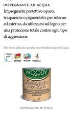 Vernice Per Legno Impregnante ad acqua Woody pigmentato Bianco 2,5 LT