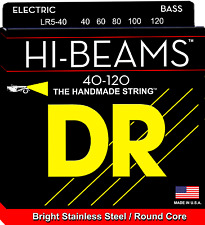 DR Strings LR5-40 HI-BEAM Stainless Steel Bass Guitar Strings, Round Core - Ligh