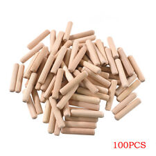 100Pcs 40mm x 8mm Wooden Dowel Pins Wood Kiln Dried Fluted Beveled