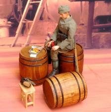 "1/6 Scale Model Scenario Solid Wood Barrel Wine Barrel F 12"" Action Figure"