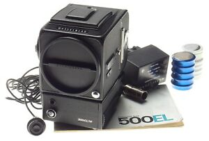 EL/M Hasselblad 500 motor WLF camera body A12 film magazine charger manual NICE
