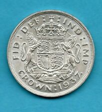 More details for 1937 silver crown coin. king george vi. royal arms reverse. in lovely condition.