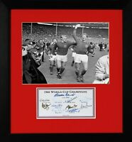 JACK CHARLTON ENGLAND 1966 WORLD CUP FINAL WINNERS FULLY SIGNED PRESENTATION