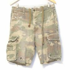 Vintage ABERCROMBIE FITCH Cargo Shorts Waist 30 Cut-off Distressed Destroyed