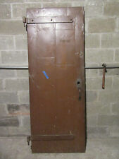 ~ ANTIQUE STEEL CLAD INDUSTRIAL FIRE DOOR ~ 29.5 X 77.25 ~ ARCHITECTURAL SALVAGE
