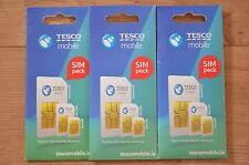 Tesco Mobile Ireland 3G Sim Card. Unlimited calls* 10Gb data. 15 credit